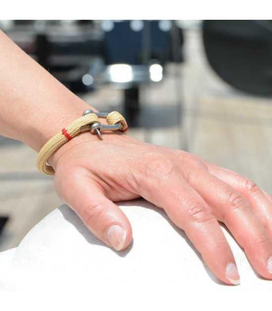 Beach & Sea beige fil rouge 2 -bracelet marin français- CP Pit-n.com - cins.06photography