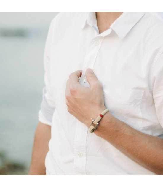 Beach & Sea beige fil rouge 2 -bracelet marin français- CP Pit-n.com - Jeremy Froeliger