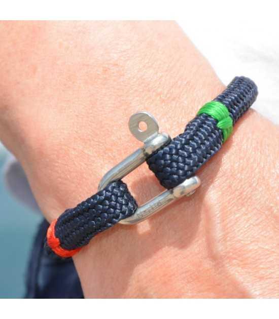 Babord tribord bleu fil rouge et vert 3 -bracelet marin français- CP Pit-n.com - jeremy froeliger