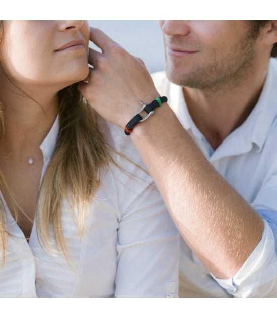 Babord tribord bleu fil rouge et vert 2 -bracelet marin français- CP Pit-n.com - jeremy froeliger