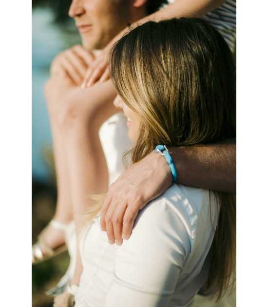 Riviera diam 6 mm bleu azur fil bleu homme bracelet marin français- CP Pit-n.com - Jeremy Froeliger