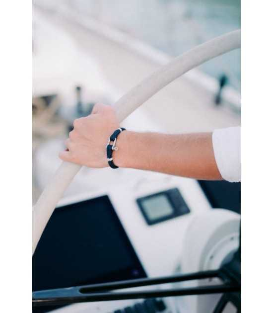 Navigator bracelet marin Tradition yachting bleu finition blanc Pit'-N 3