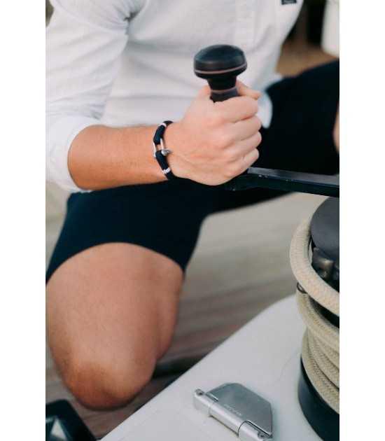 Navigator bracelet marin Tradition yachting bleu finition blanc Pit'-N 2