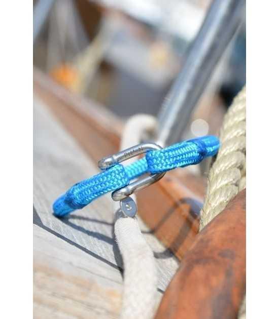 Riviera bleu azur fil bleu 3 -bracelet marin français vue inclinée - CP Pit-n.com - cins.06photography
