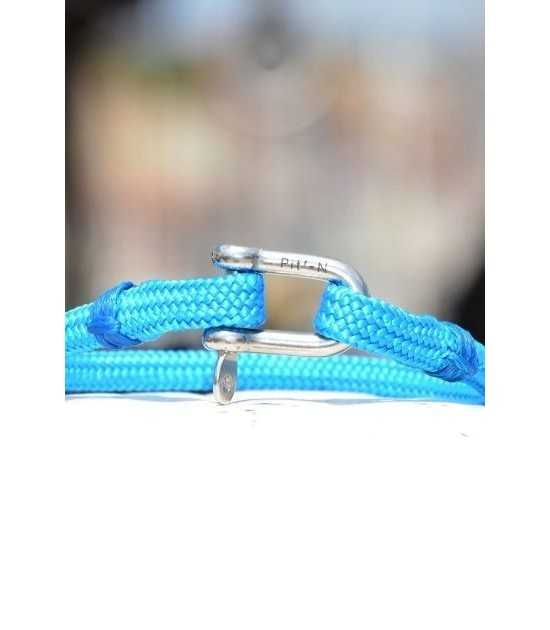 Riviera bleu azur fil bleu 3 -bracelet marin français vue de face- CP Pit-n.com - cins.06photography