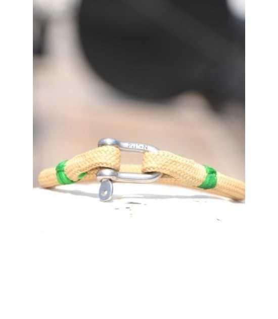 Beach & Sea beige fil vert 1 -bracelet marin français- CP Pit-n.com - cins.06photography