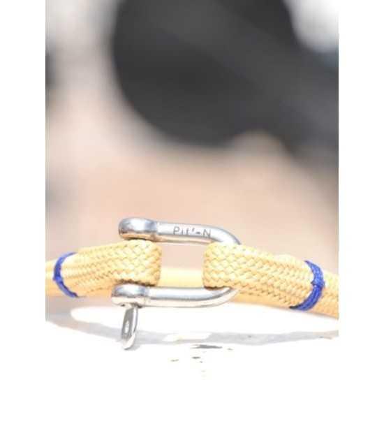 Beach & Sea beige fil Bleu 1 -bracelet marin français- CP Pit-n.com - cins.06photography