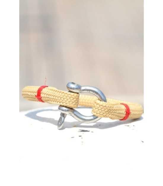 Beach & Sea beige fil rouge 1 -bracelet marin français- CP Pit-n.com - cins.06photography