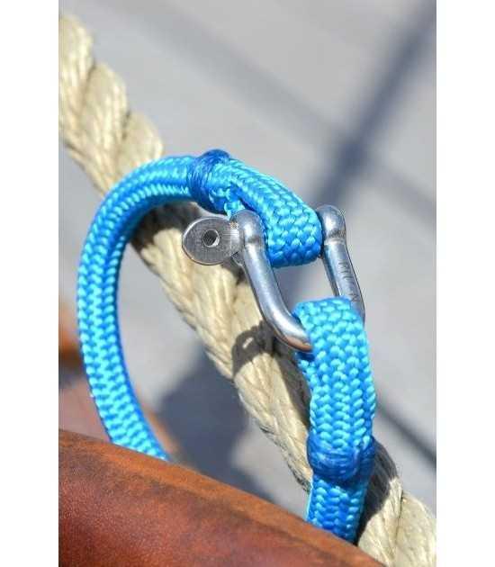 Riviera bleu azur fil bleu -bracelet marin français vue côté - CP Pit-n.com - cins.06photography