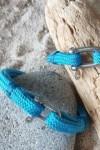 Riviera diam 6 mm bleu azur fil bleu -bracelet marin français vue sur bois flotté - CP Pit-n.com