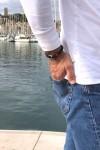Navigator bleu fil rouge bracelet marin français 3 - CP Pit-n.com
