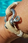 Beach & Sea beige fil blanc -nautique - bracelet marin français- CP Pit-n.com