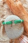 Lagune vert fil Blanc -bracelet marin français- CP Pit-n.com - TRADITION YACHTING