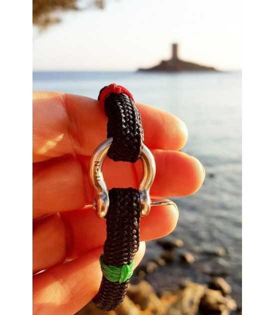 Babord tribord bleu fil rouge et vert 1 -bracelet marin français- CP Pit-n.com