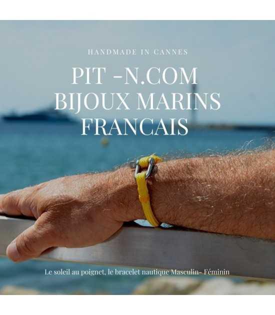 bracelet marin jaune finition jaune sextant - homme - cannes pit-n.com