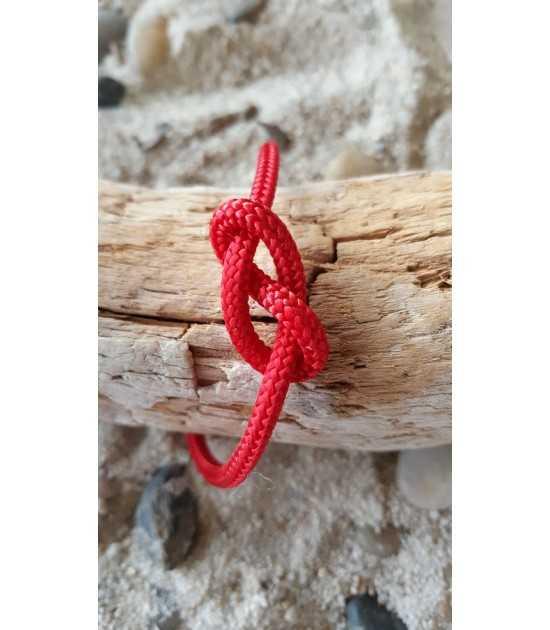 Infinity bracelet collection noeuds marins cordage rouge