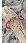 Infinity bracelet collection noeuds marins cordage rouge fermoir