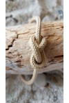 Infinity bracelet collection noeuds marins cordage beige