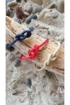 Infinity bracelet collection noeuds marins cordage bleu marine rouge beige
