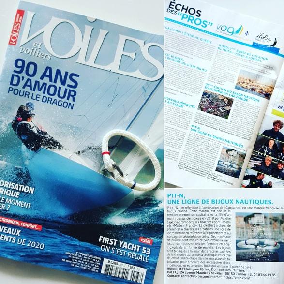 article-de-presse-pit'-n-dans-le-magazine-voiles -et voiliers-numéro-587-decembre-2019