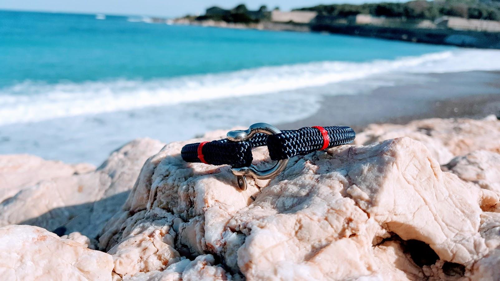 modèle Frenchies bracelet marin made in france cordage bleu